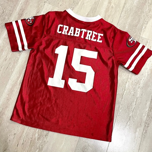 NFL SF 49ers Crabtree 15 Youth Jersey U1D325